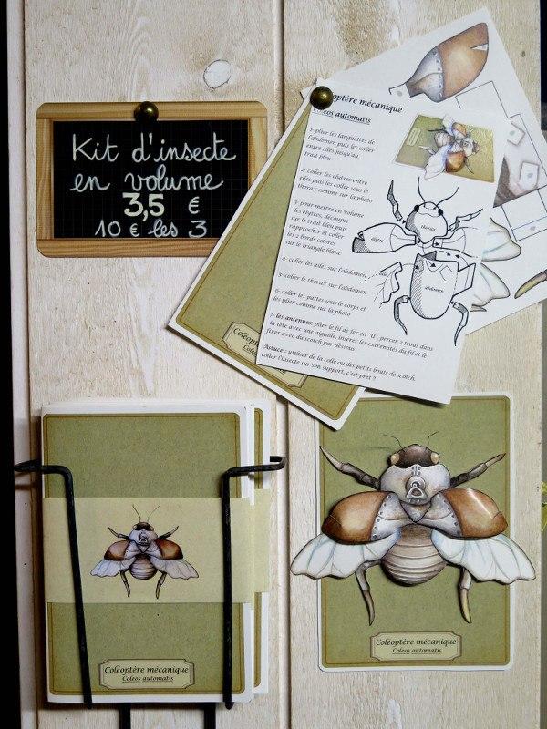 Les kits d'insecte en volume